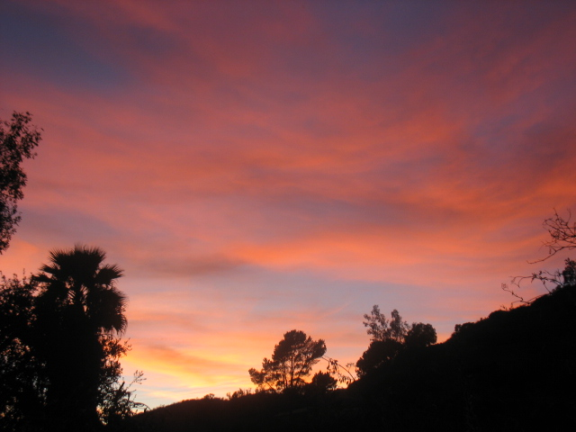 Sunset Over Carbon Canyon