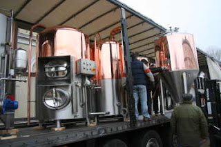 Brewhouse arriving from Italy