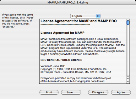 MAMP License Agreement