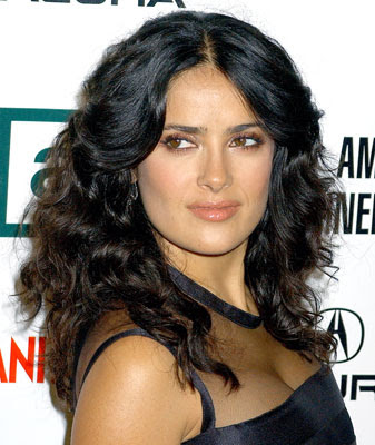 salma hayek pictures breastfeeding. hair Salma Hayek Pampers