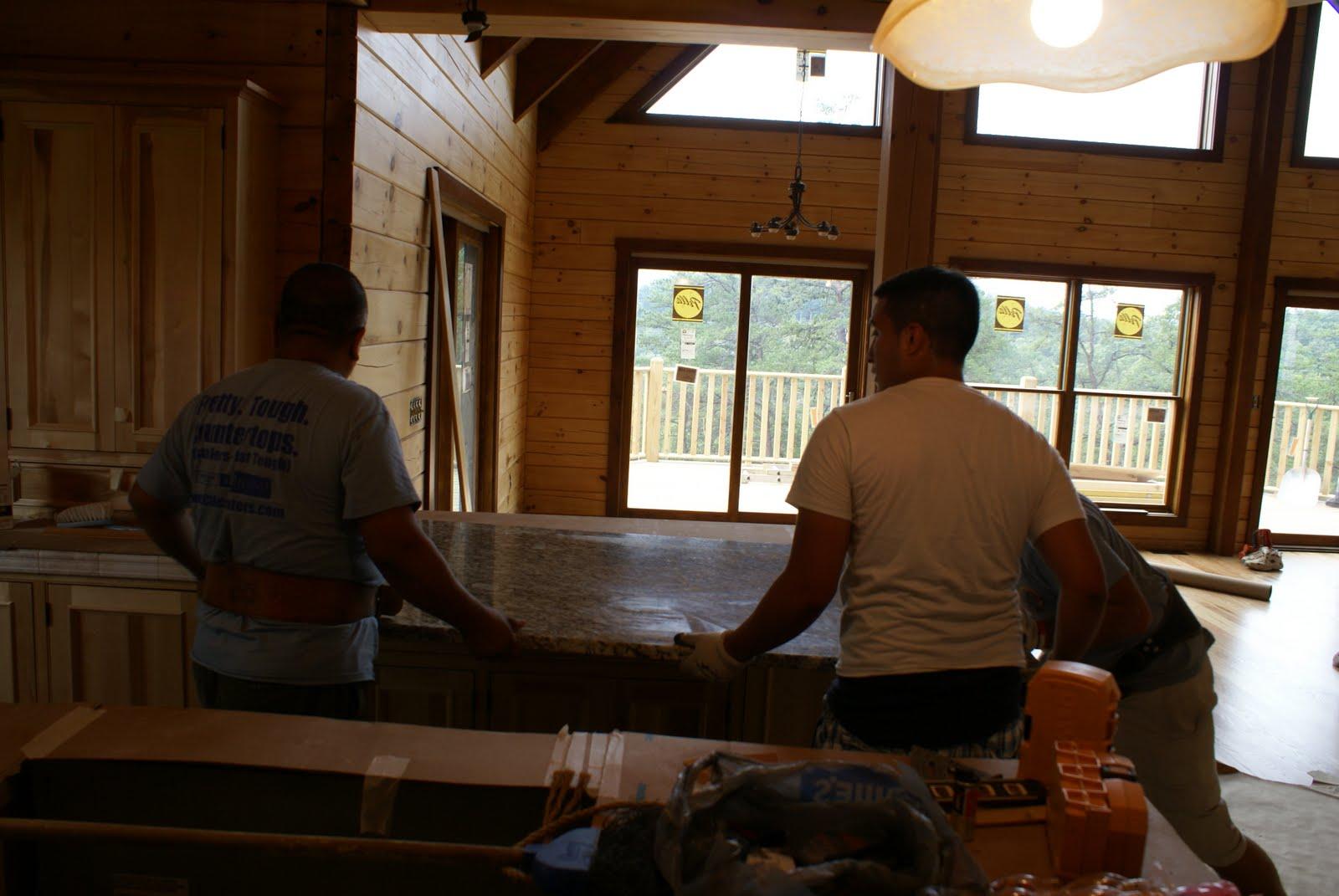 Hidden Bend Retreat Romney West Virginia Granite Installed