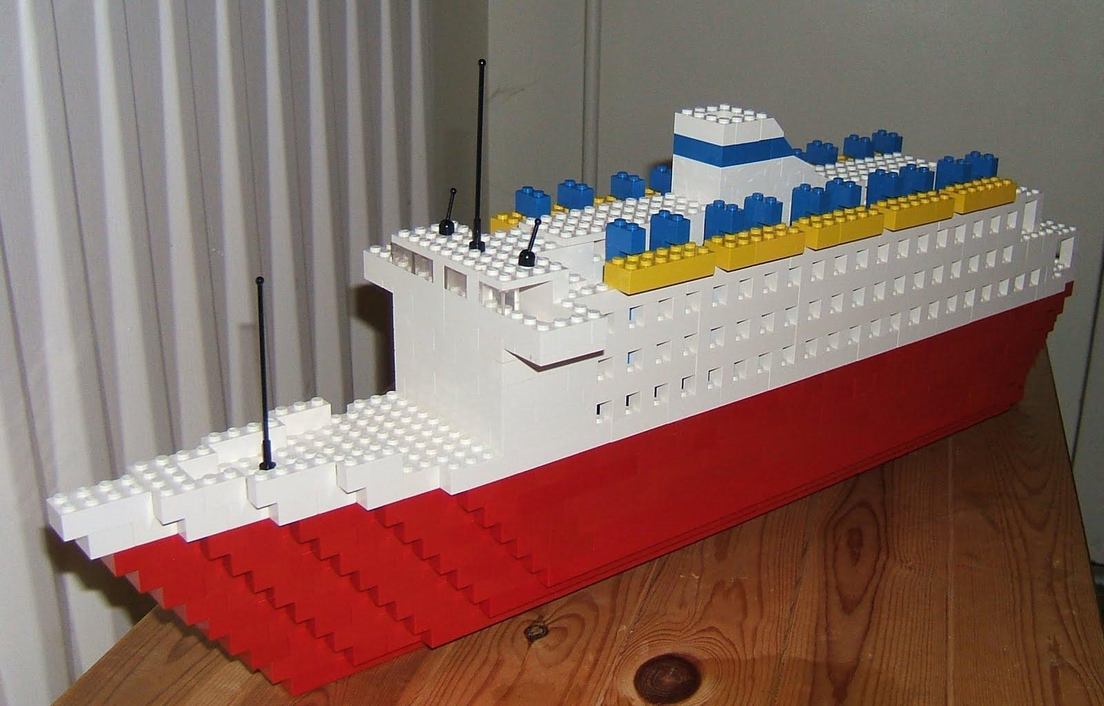 Как из лего сделать пароход