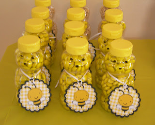 For The Party Favors I Found Empty Honey Bear Bottles Online And Filled Them With Candy Put A Cute Little Tag