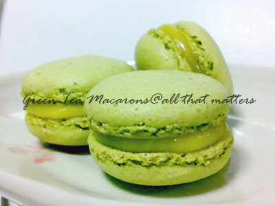 All That Matters: Green Tea Macarons