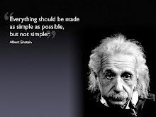 Ամեն ինչ պետք է հնարավորին չափ պարզ լինի, բայց ոչ ավելին:
