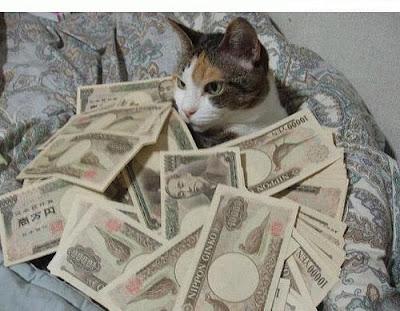 chat-billet-banque accroitre et répandre amour dans Sortilège de réussite professionnelle
