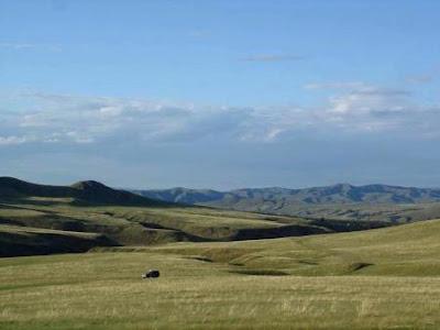 La steppe mongole : vastes paysages herbus et sans arbres