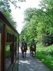 Attention... deux cavaliers nous dépassent...