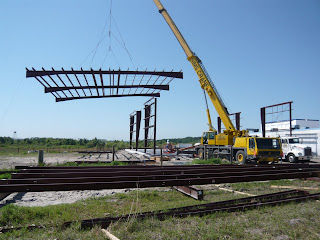 Erecting 2-bay grids