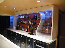 Concrete back bar