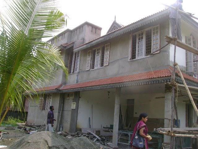 Kerala House Construction For Binu Thomas North Side