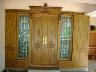 Front door in teakwood