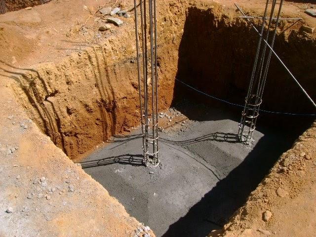 Kerala house construction for sunny mattamana foundation for Concrete pillars for foundation