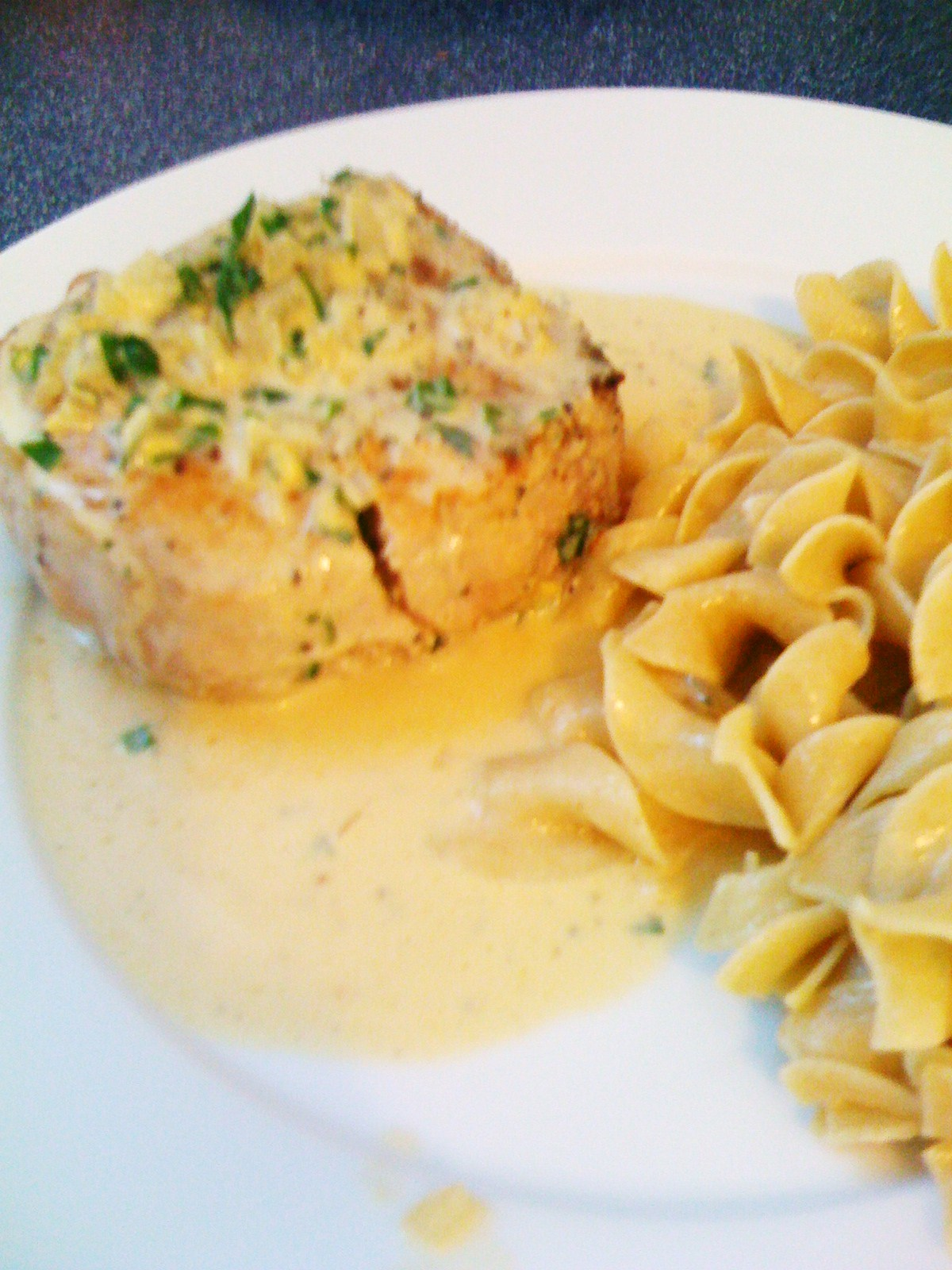 Kitchen Escapes: Pork Chops with Dijon Herb Sauce