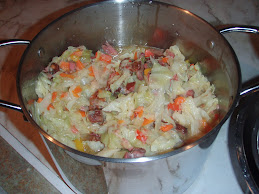cabbage with smoked turkey