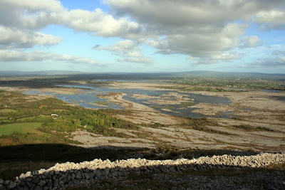 View from summit of Mullaghmore mountain, county Clare