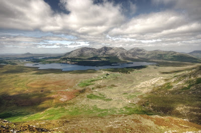 The Lough Inagh Valley in Connemara, county Galway