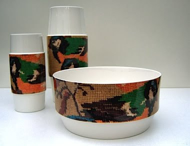 This nifty little bowl uses wallpaper designs from Cole & Son. Genius idea.