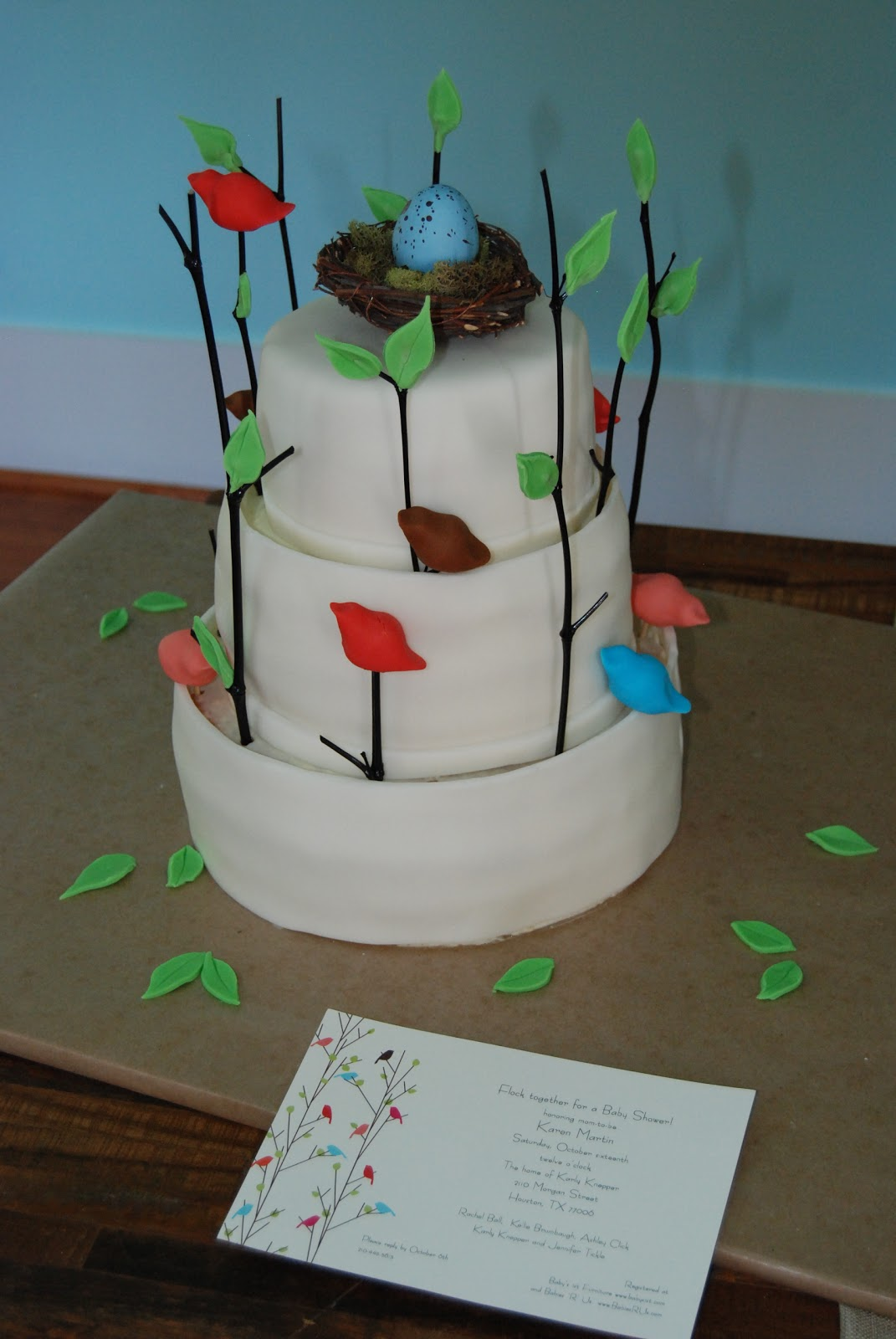 pinch of this a dash of that baby shower bird themed cake