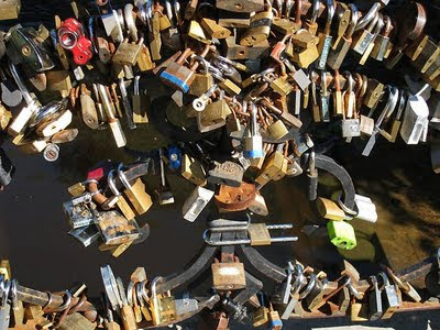 Bridge with locks in Riga
