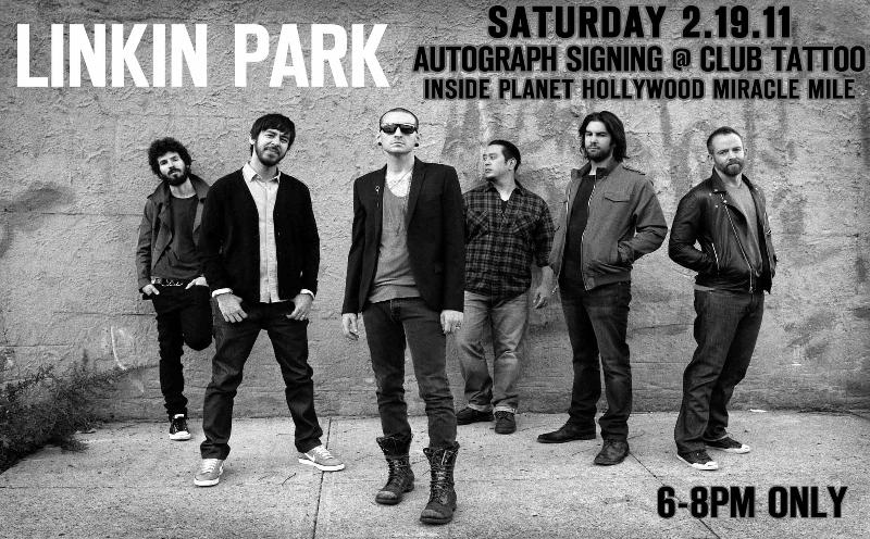Linkin Park at Club Tattoo Las Vegas 2.19.11 for Autograph Signing