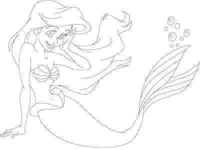 Coloring Pages Princess. Princess Ariel coloring pages