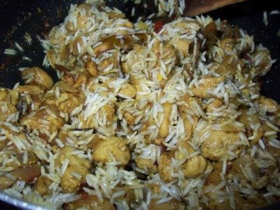Jhovaan meal in konkani recipe nepali style chicken biryani drain the water from the rice and add it to the chicken forumfinder Images
