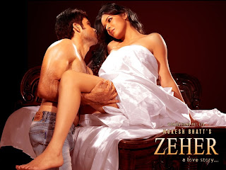 Udita shows her feet in movie zeher