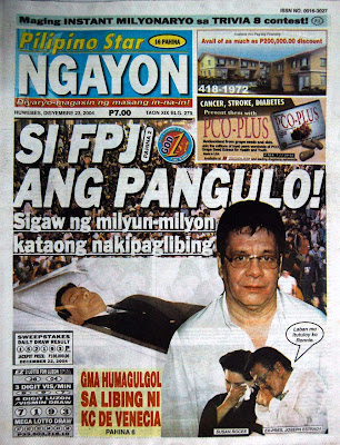 THE HEADLINES 3 YEARS AGO: FPJ IS DEAD