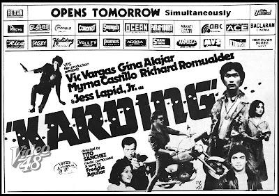 """Karding"""" (1982)- Stars Vic Vargas, Gina Alajar, Myrna Castillo"""