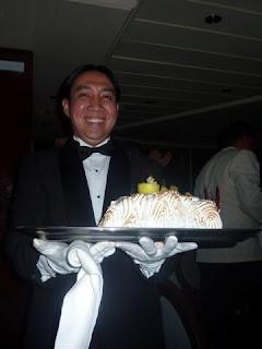 Onze waiter.