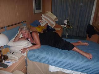 Languit op bed...