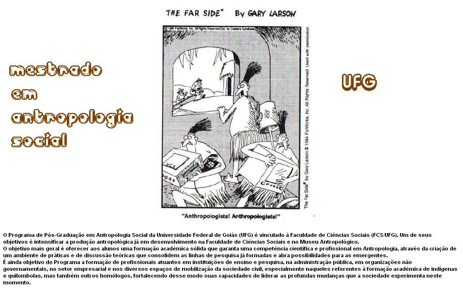 MESTRADO EM ANTROPOLOGIA SOCIAL UFG