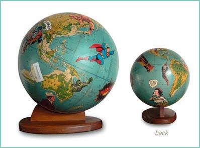 vieux globes terrestres r utilis s gycouture design. Black Bedroom Furniture Sets. Home Design Ideas