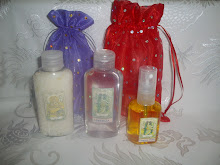Sales de baño, alcohol en gel y body splash.