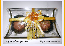 doorgift - 3pcs chocolate with ribbon