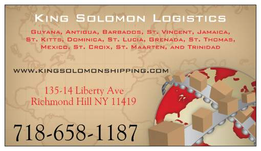 KING SOLOMON SHIPPING - Richmond Hill Branch