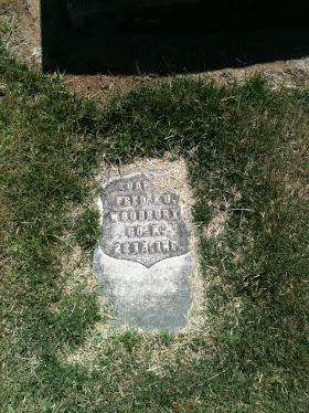 Captain Woodbury's grave...