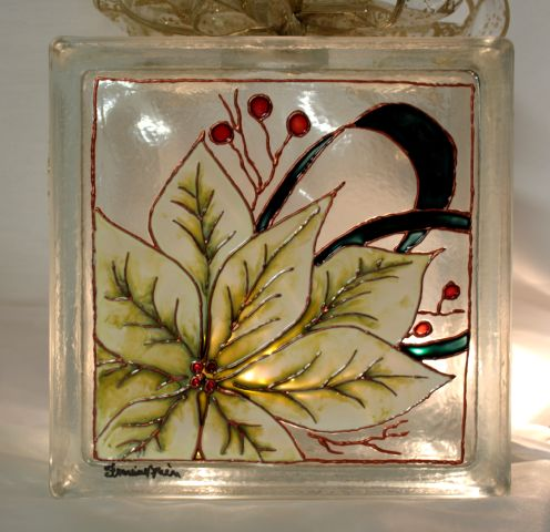 L 39 atelier de francine blocs de verre - Peindre sur verre 100 modeles originaux ...