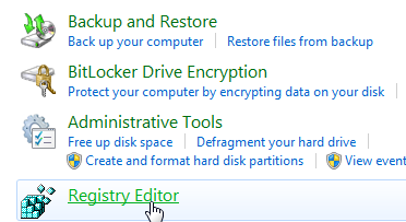 how to open registry editor in windows 8