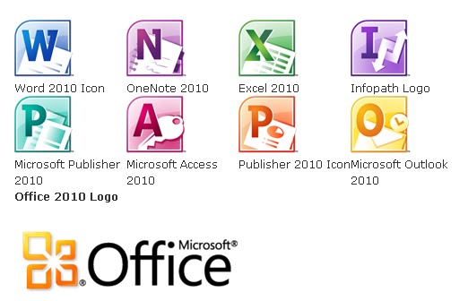microsoft office 2010 official logos and document icons