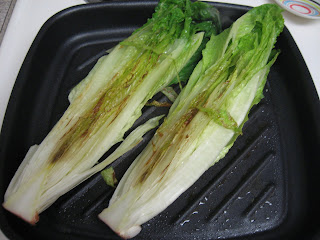 grilled romaine hearts, adapted from FatFree Vegan Kitchen