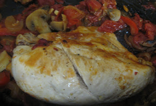 chicken cacciatore, adapted from Ellie Krieger's The Food You Crave