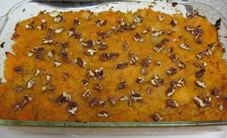 Sweet potato casserole sweetened with pineapple, adapted from Gittleman's Get the Sugar Out