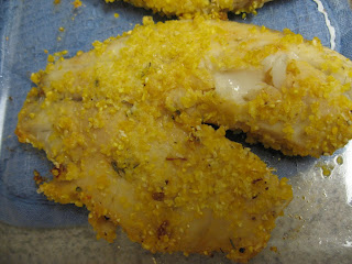 Tilapia with cornmeal chipotle crust, adapted from Moosewood Restaurant New Classics