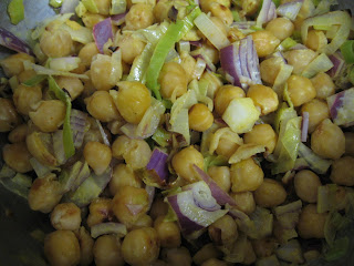 pan-fried chickpea salad from Heidi Swanson at 101 cookbooks
