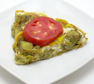 Eggplant and summer squash frittata