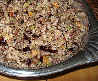 Wild rice, pecan, and cranberry salad, adapted from Simply Recipes