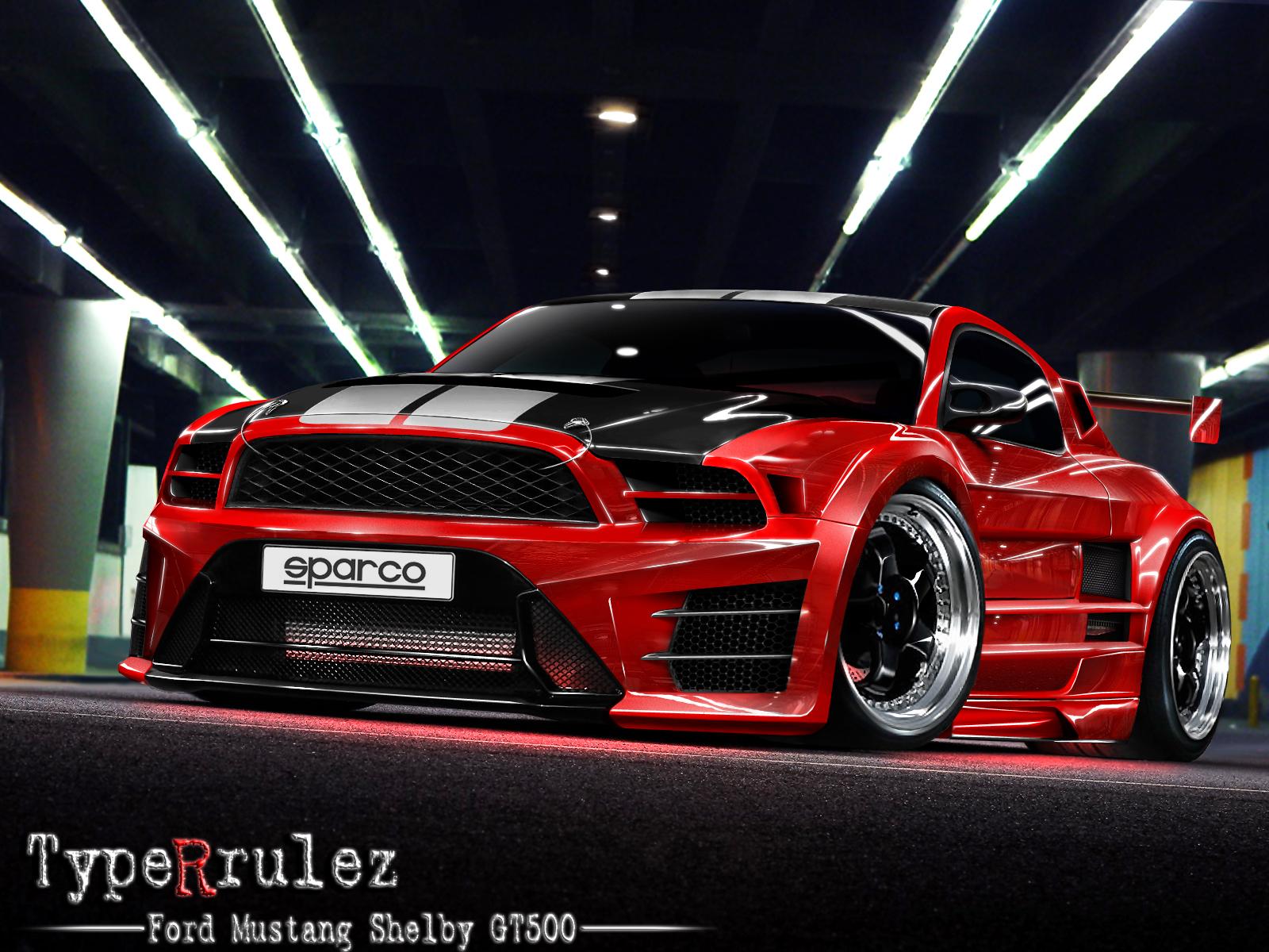 FORD MUSTANG SHELBY GT500 VERMELHO DUAS PORTAS