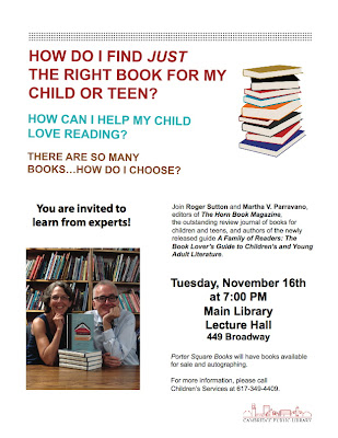 >Cambridge Public Library, November 16th (note date change)